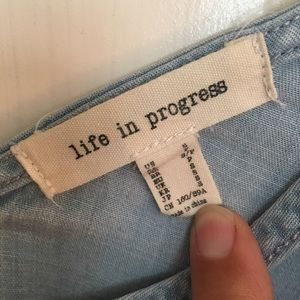 Life In Progress Light Weight Jean Tank Top
